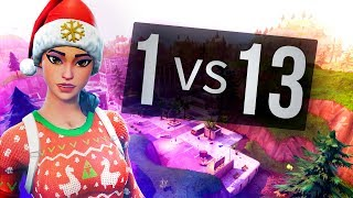 10 KILLS in 1 MINUTE (1V13) Fortnite