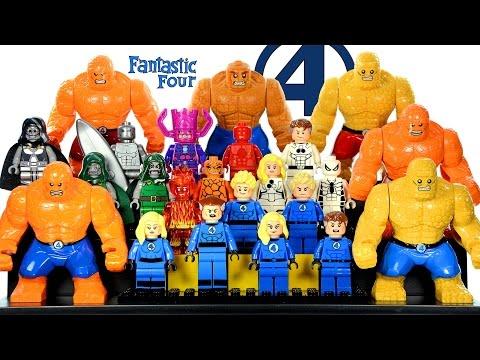 Fantastic Four Marvel Superheroes LEGO KnockOff Minifigure Collection