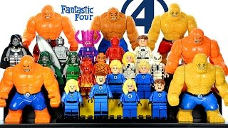 Fantastic Four Marvel Superheroes LEGO KnockOff Minifigure Collection