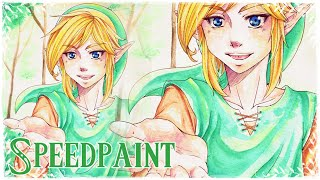 The Legend of Zelda Watercolor Speedpaint