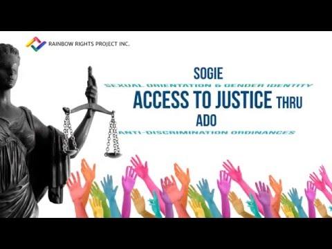SOGIE Access to Justice Through Anti-discrimination Ordinances Video Infographic