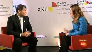 Rafael Correa pregunta por Ana Pastor