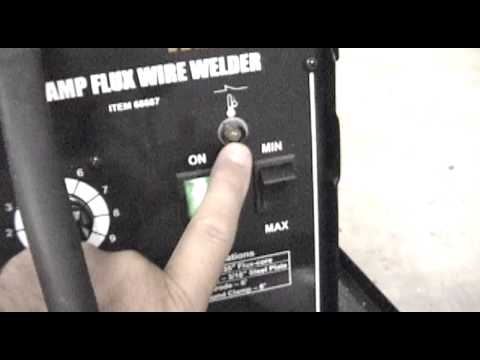 Harbor Freight 68887 120Volt 90 Amp Flux Core Wire Welder Review and Demo.