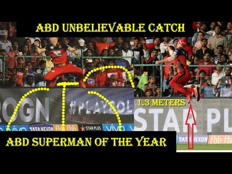 IPL 2018| AB de Villiers Stunning Catch of alex hales in IPL 2018 || RCB vs SRH | IPL Best Catches