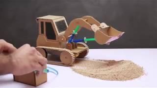 ゴウキ/Gouki made the earth excavator from cardboard ! ゴウキ/ゴウキが地上の掘削機をボール紙で作った #2