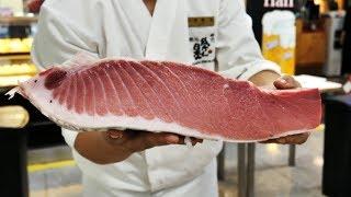[4K]200Kg 생참치 회뜨기_Giant Tuna Cutting Show_Sushi and sashim_Japanese food