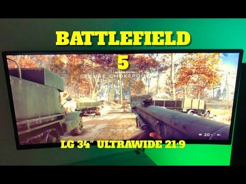 """Battlefield 5 on 34"""" LG 4K (21:9) Ultrawide + PS4 PRO"""