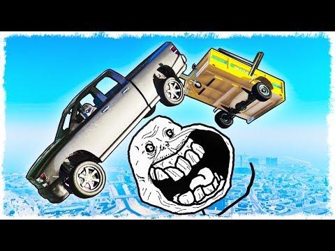 ЭТУ ЖЕСТЬ НЕ ПРОЙТИ!!! ДОСТАВЬ ПРИЦЕП В GTA 5 ONLINE ДО ФИНИША!!!!
