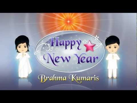 Happy New Year From Brahma Kumaris - Flash Animation -  Hindi video