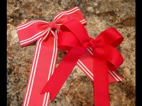 How to make a hairbow with tails (2 different bows) Bow w/tails tutorial