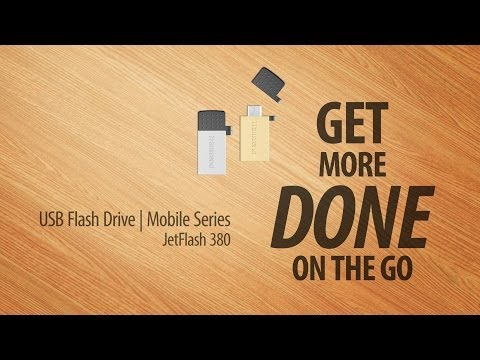 Transcend USB OTG Flash Drive JetFlash 380 - Get More Done On The Go