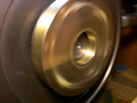 Utterpower.com modified 8.4 inch 8 groove serpentine pulley bolted to changfa flywheel.