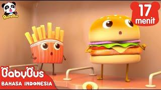 Hamburger dan Kentang Goreng | Kumpulan Film Hamburger | BabyBus Bahasa Indonesia