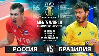 Волейбол | Россия vs. Бразилия | Чемпионат Мира 2018 | Лучшие моменты игры