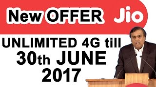 Reliance JIO will provide Free 4G Data till 30th June 2017 #DigitalIndia