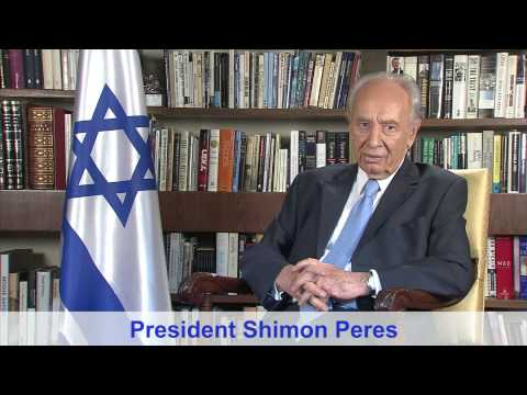 President Shimon Peres Launches YouTube Channel