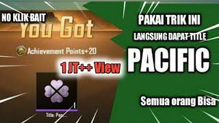 Cara mudah dapatkan TITLE PACIFIST atau pecinta damai di PUBG mobile Indonesia