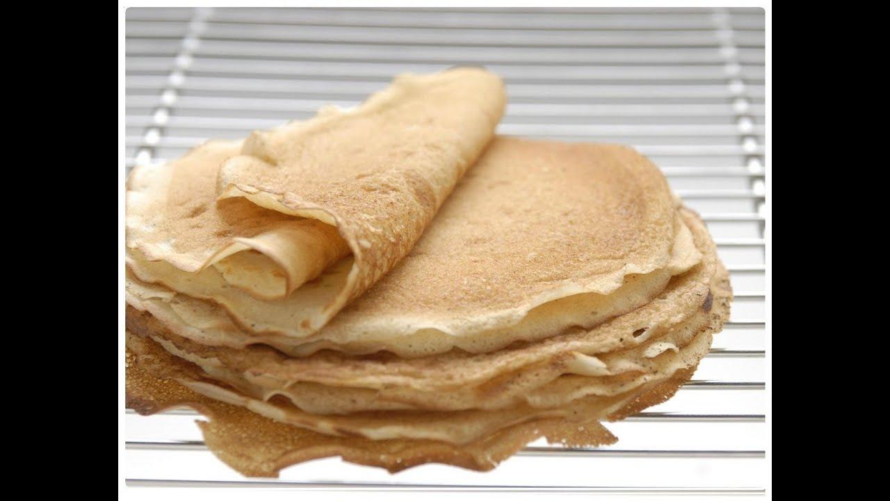 Como hacer masa para panqueques o crepas dulces y salados - Como hacer masa de crepes ...