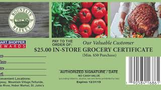 Mountain Market Smart Shopper Rewards Proposal