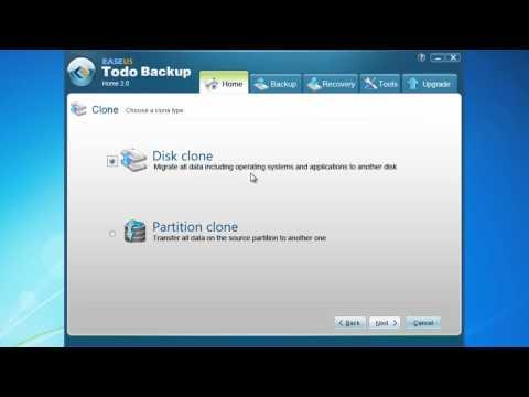 Free copy/clone hard drive disk software to upgrade hard drive - EASEUS Todo Backup.