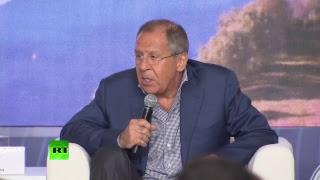 Лавров выступает на молодёжном форуме «Территория смыслов на Клязьме»
