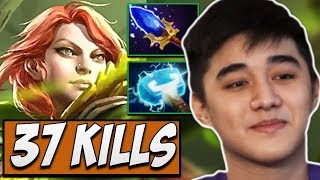 Fnatic.Abed WindRanger with 37 KILLS Dota Gameplay