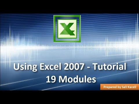 Excel 2007 - Full Tutorial Training - 19 Modules