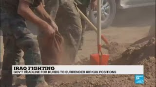 Clash between Army and Kurds in Iraq: \