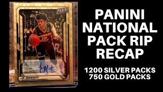 Panini National Pack Rip: 1200 Silver Packs & 750 Gold Packs with 1/1s Galore & ZION ROOKIE!!