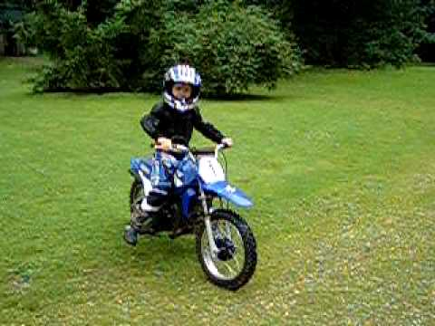 kindermotorrad pw 80 youtube