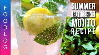 Mojito Light & Refreshing Mint & Lime Drink Recipe in Urdu by FoodLog #Summerdrinks