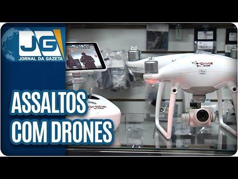 Quadrilha prepara assalto com drone