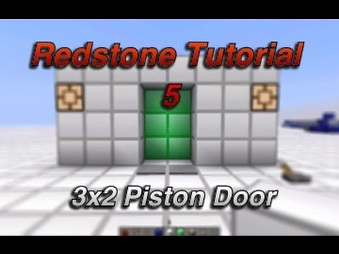 Minecraft | 3x2 Piston door + lock 1.5.2