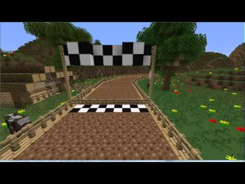 Minecraft Mario Kart - Pig Racer - Four Course Preview