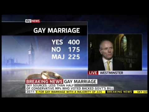 Andrea Williams Discusses Vote on Same Sex Marriage Bill on Sky News