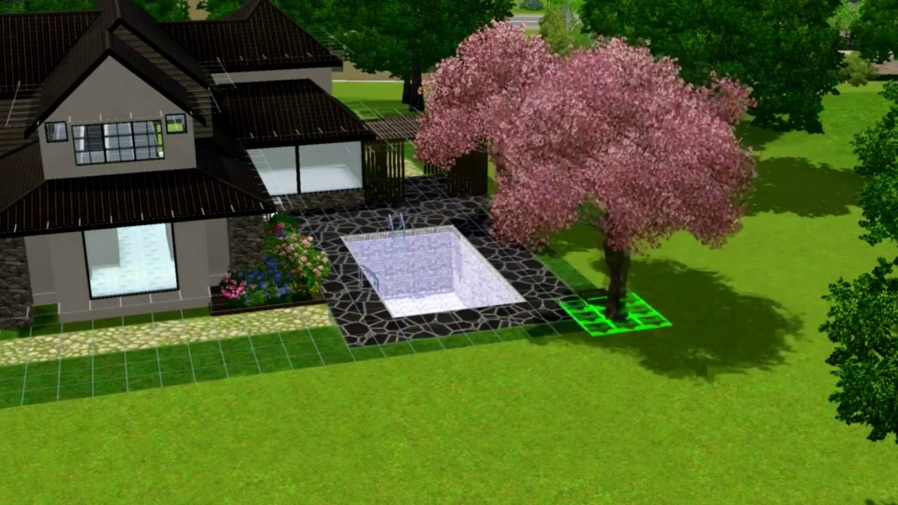 The sims 3 house building ziptonhome 66 youtube for Case the sims 3 arredate