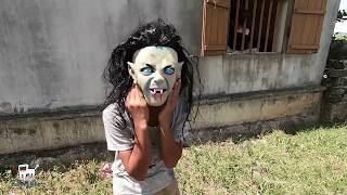 Must Watch New Funny😂 funny prank ,Terror mask devil (A silent comedy film)