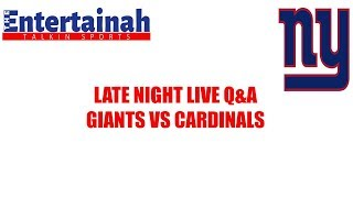 New York Giants Q  & A Hangout before New York Giants vs Arizona Cardinals