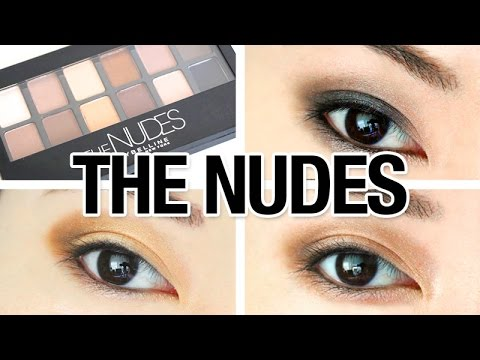 Maybelline The NUDES Palette Review & 3 Looks Tutorial