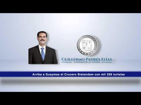 Arriba a Guaymas el Crucero Statendam con mil 258 turistas.  08-12-2014