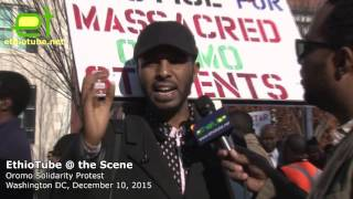 Ethiopia: #OromoProtests Solidarity Rally DC - Interview with demonstrator Nazir - December 10, 2015
