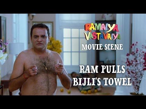 Ram Pulls Bijlis Towel - Ramaiya Vastavaiya Scene - Girish Kumar...