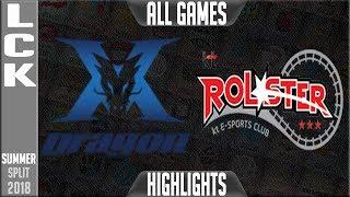KZ vs KT Highlights ALL GAMES | LCK Summer 2018 Week 6 Day 3 | King-Zone DragonX vs KT Rolster
