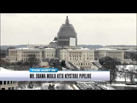 White House says Obama will veto Keystone pipeline