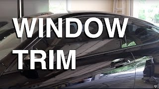 Blacking Out Window Trim using PlastiDip