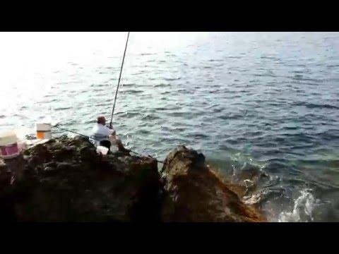 ловля маховой удочкой на море