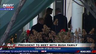 WATCH: President Trump and Melania Trump Meet And Console With George Bush and Family