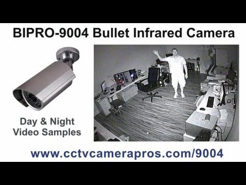 BIPRO-9004 Bullet Infrared Security Camera CCTV Surveillance Video Demo
