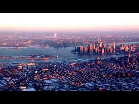 Airborne View of New York Harbor & Skyline