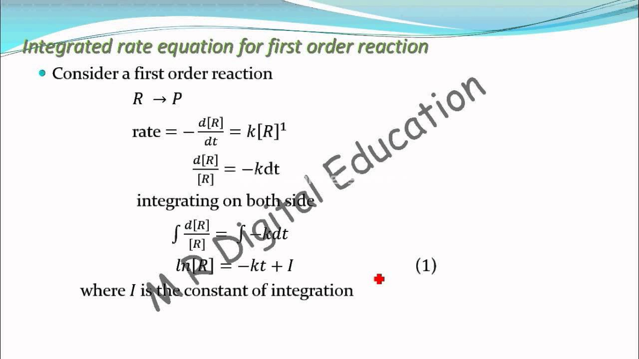 Equation Integral Integrated Rate Equation of